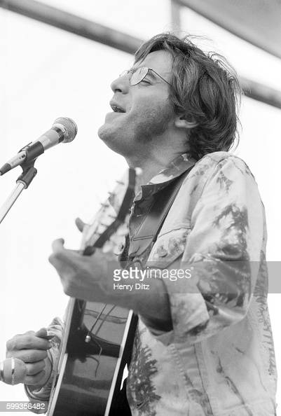 John Sebastian formerly of The Lovin' Spoonful performs for the masses at the free Woodstock Music and Art Fair The festival took place on Max...