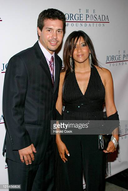 John Seda and guest during 4th Annual Jorge Posada Foundation Gala Benefiting Craniosynostosis at Cipriani Wall Street in New York City New York...