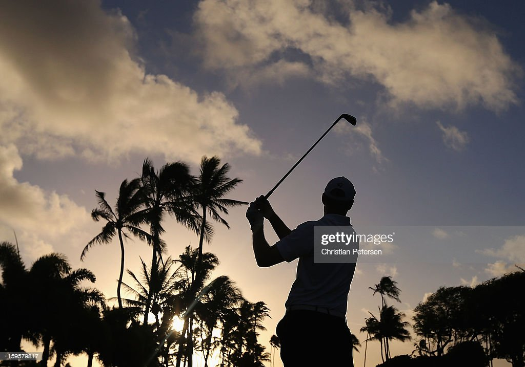 <a gi-track='captionPersonalityLinkClicked' href=/galleries/search?phrase=John+Senden&family=editorial&specificpeople=588020 ng-click='$event.stopPropagation()'>John Senden</a> of Australia hits a tee shot on the 11th hole during the first round of the Sony Open in Hawaii at Waialae Country Club on January 10, 2013 in Honolulu, Hawaii.