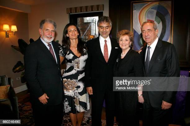 John Sexton Veronica Berti Andrea Bocelli Matilda Raffa Cuomo and Governor Mario Cuomo attend JOHN SEXTON and MATILDA RAFFA CUOMO host a reception...