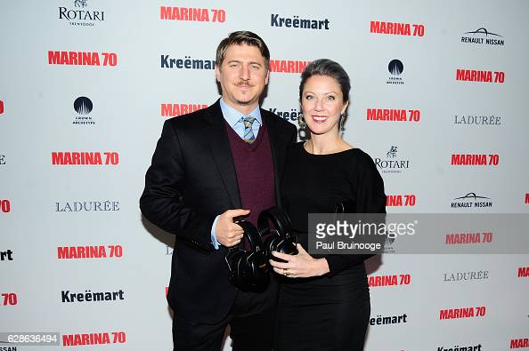 John Sheridan and Blake Sheridan at MARINA 70 at Solomon R Guggenheim Museum on December 8 2016 in New York City