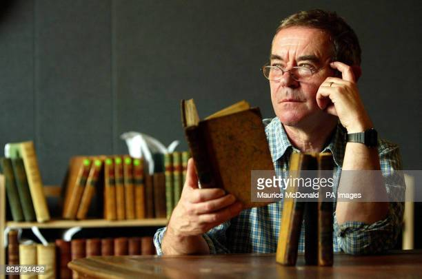 John Sibbald a staff member at Edinburgh auctioneers Lyon and Turnbull with the rare copies of one of the bestloved novels Jane Austen's Pride and...