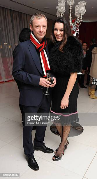 John Simm and Kate Magowan attends the preparty for the English National Ballet's The Nutcracker at St Martin's Lane Hotel on December 12 2013 in...