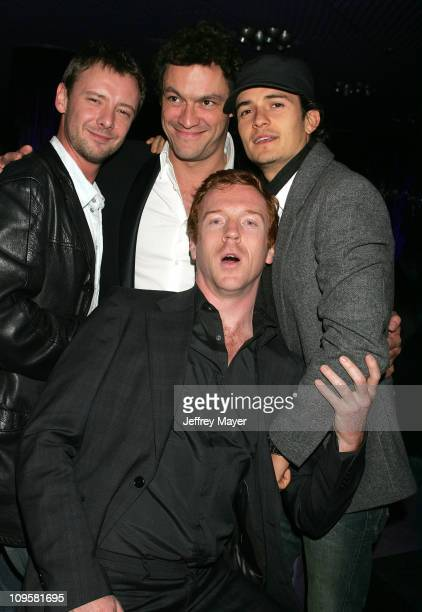 John Simm Dominic West Orlando Bloom and Daman Lewis L to R