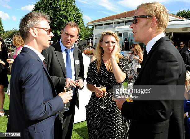 John Simm Philip Glenister Billie Piper and Laurence Fox attend the Audi International Polo at Guards Polo Club on July 28 2013 in Egham England