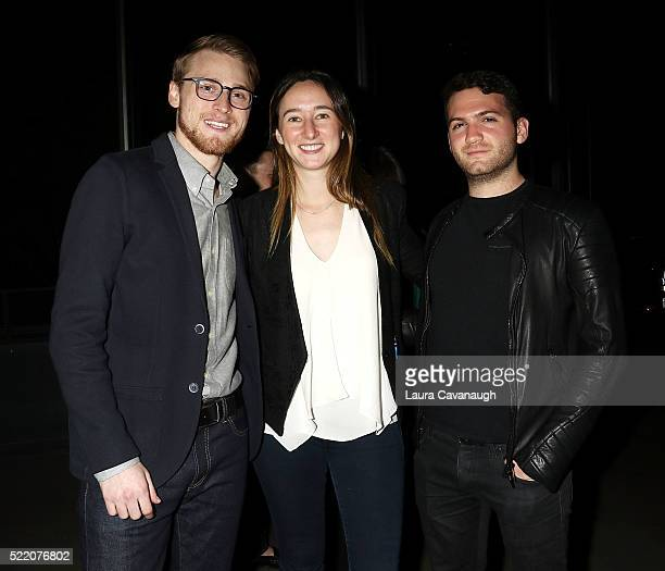 John Simon Parker Hill and Evan Ari Kelman attend Shorts Filmmakers Party 2016 Tribeca Film Festival at Eventi Hotel on April 17 2016 in New York City