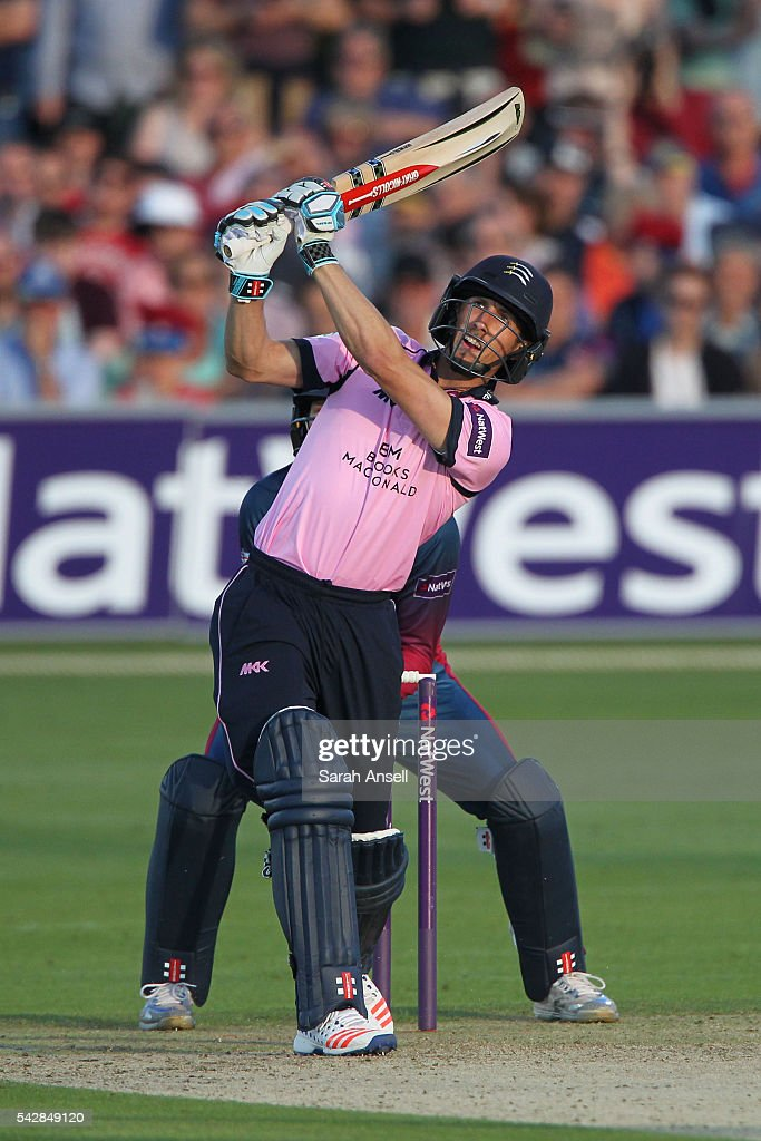 <a gi-track='captionPersonalityLinkClicked' href=/galleries/search?phrase=John+Simpson+-+Cricket+Player&family=editorial&specificpeople=12951507 ng-click='$event.stopPropagation()'>John Simpson</a> of Middlesex hits out and is caught during the Natwest T20 Blast match between Kent and Middlesex at The Spitfire Ground on June 24, 2016 in Canterbury, England.