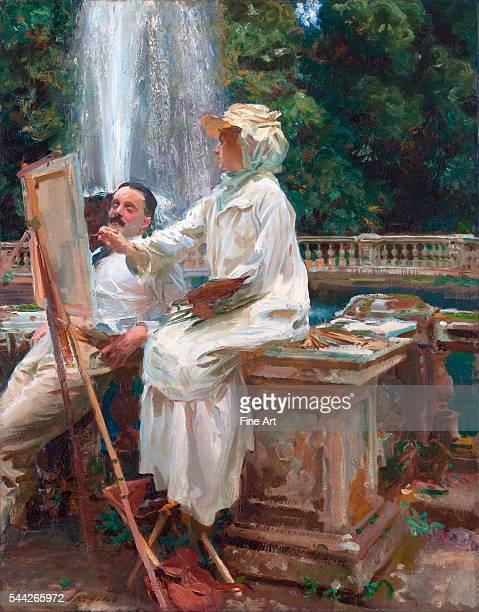John Singer Sargent The Fountain Villa Torlonia Frascati Italy oil on canvas 714 x 565 cm Art Institute of Chicago