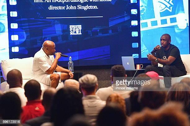 John Singleton and Chaka Zulu attend Celebrating 25 Years Boyz N The Hood on August 23 2016 in Atlanta Georgia