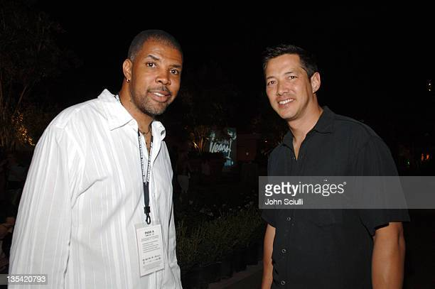 John Singleton and Russell Wong during CineVegas Film Festival 2005 Vegas Magazine Second Anniversary Party Day 2 at Whiskey Beach at Green Valley...