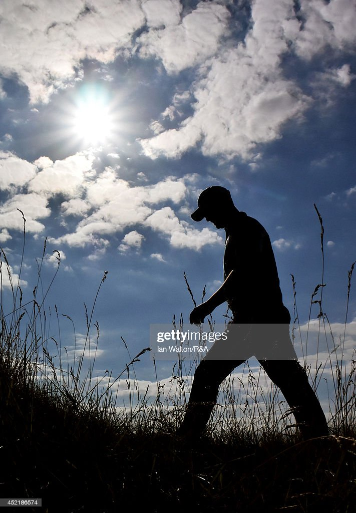 John Singleton of England walks to the 12th tee during a practice round prior to the start of The 143rd Open Championship at Royal Liverpool on July 15, 2014 in Hoylake, England.