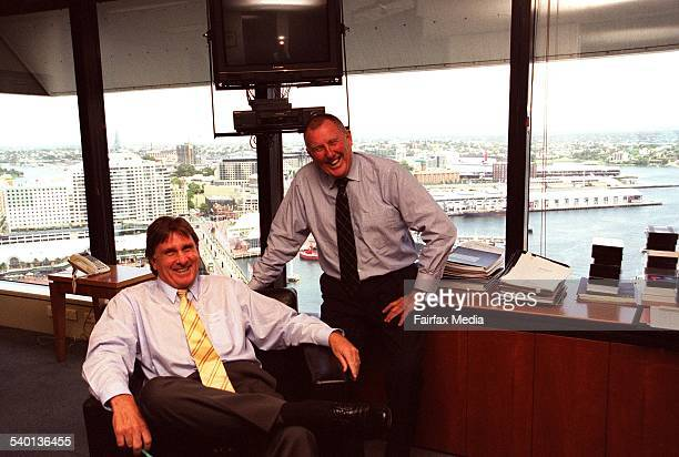 John Singleton right with Russell Tate 12 February 2002 AFR Picture by VIRGINIA STAR