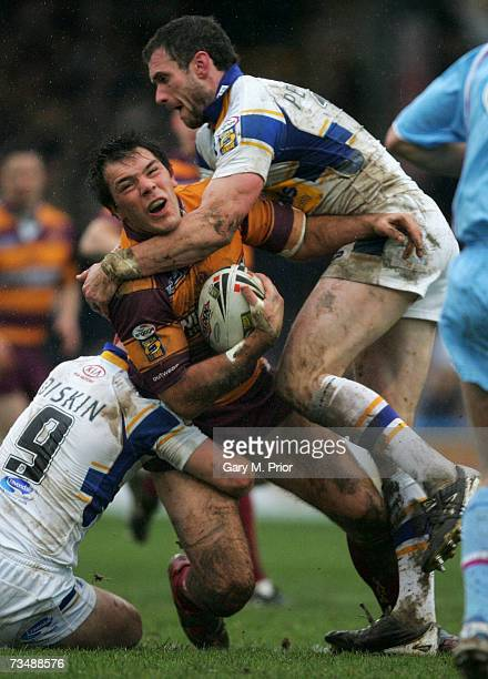 John Skandalis of Huddersfield Giants in action during the engage Super League match between Leeds Rhinos and Huddersfield Giants at Headingley on...