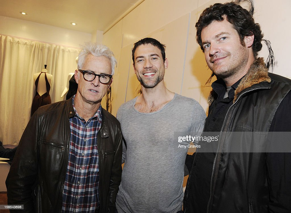 <a gi-track='captionPersonalityLinkClicked' href=/galleries/search?phrase=John+Slattery&family=editorial&specificpeople=857095 ng-click='$event.stopPropagation()'>John Slattery</a>, Adam Rayner and Brett Simon attend Lorien Haynes' Art Show at The Quest on December 14, 2012 in Los Angeles, California.