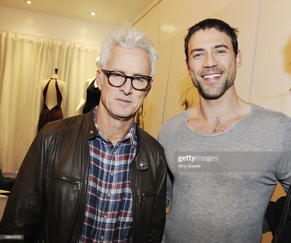 <a gi-track='captionPersonalityLinkClicked' href=/galleries/search?phrase=John+Slattery&family=editorial&specificpeople=857095 ng-click='$event.stopPropagation()'>John Slattery</a> and Adam Rayner attend Lorien Haynes' Art Show at The Quest on December 14, 2012 in Los Angeles, California.