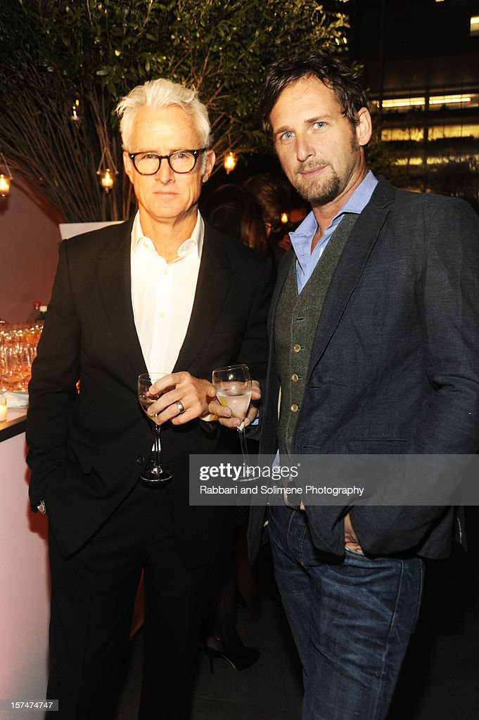 John Slattery and Josh Lucas attends The Museum of Modern Art 5th annual Film Benefit honoring Quentin Tarantino at MOMA on December 3, 2012 in New York City.