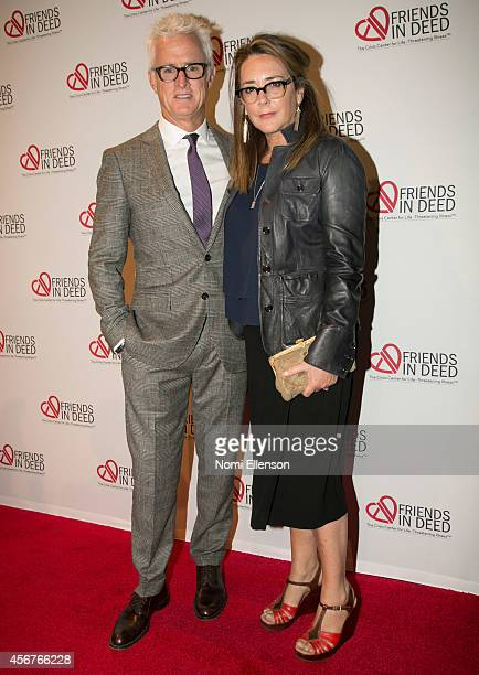John Slattery and Talia Balsam attend Dinner And Auction Benefiting Friends In Deed at Stephan Weiss Studio on October 6 2014 in New York City