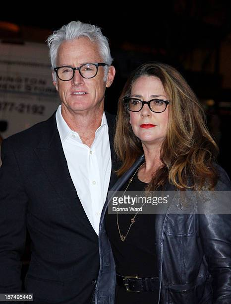 John Slattery and Talia Balsam attend The Museum of Modern Art Film Benefit Honoring Quentin Tarantino at MOMA on December 3 2012 in New York City