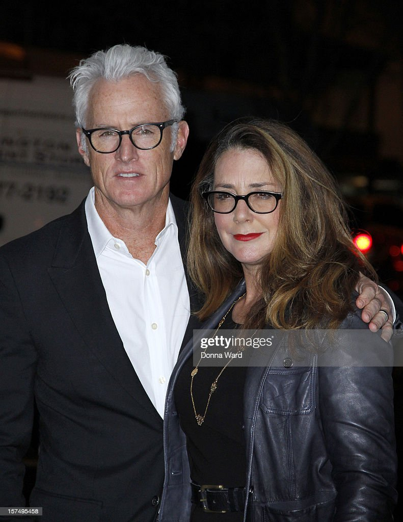 John Slattery and Talia Balsam attend The Museum of Modern Art Film Benefit Honoring Quentin Tarantino at MOMA on December 3, 2012 in New York City.
