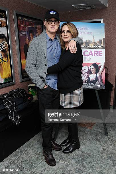 John Slattery and Talia Balsam attend the 'Take Care' New York screening at Cinema Village on December 5 2014 in New York City