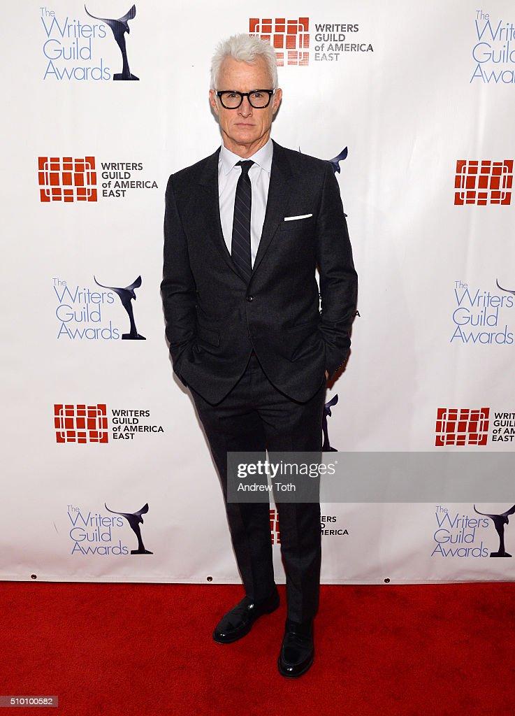 John Slattery attends the 2016 Writers Guild Awards New York Ceremony at The Edison Ballroom on February 13 2016 in New York City