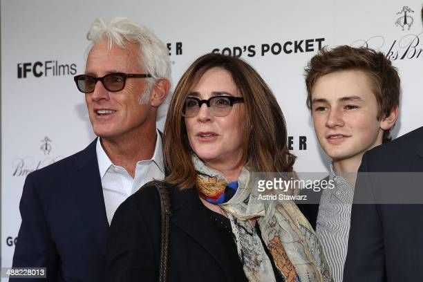John Slattery Talia Balsam and Henry Slattery attend 'God's Pocket' screening at IFC Center on May 4 2014 in New York City