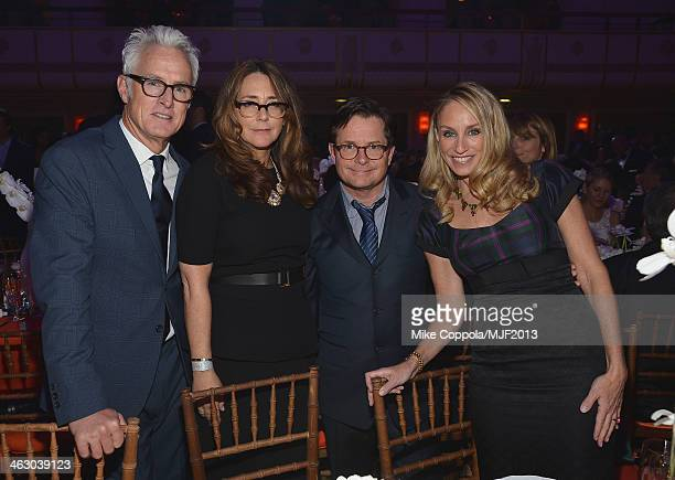 John Slattery Talia Balsam Michael J Fox and Tracy Pollan attend the 2013 A Funny Thing Happened On The Way To Cure Parkinson's event benefiting The...