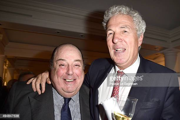 John SpencerChurchill and Henry Wyndham attend the Prince Albert II of Monaco Foundation Dinner In Honour Of Winston Churchill at Sotheby's on...