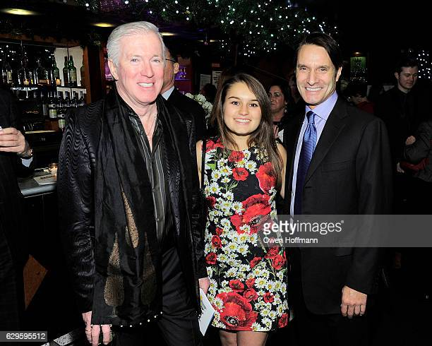 John Spillane Alexandra Evnin and Luke Evnin attend Scleroderma Research Foundation's Cool Comedy Hot Cuisine at Carolines on December 12 2016 in New...