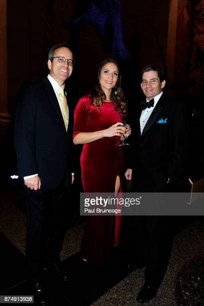 John Spiro Cat Donaldson and Michael Ronemus attend the Cold Spring Harbor Laboratory Double Helix Medals Dinner at the American Museum of Natural...