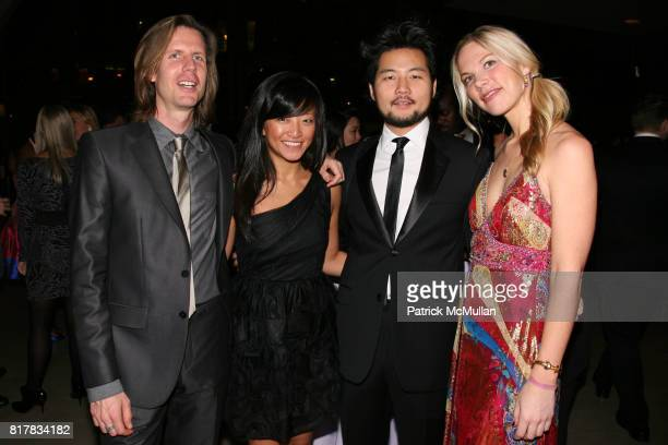 John Spodek Jennifer Wu John Ha and Bethany Hale attend The Young Patrons of Lincoln Center Masquerade Gala at Alice Tully Hall on October 28 2010 in...