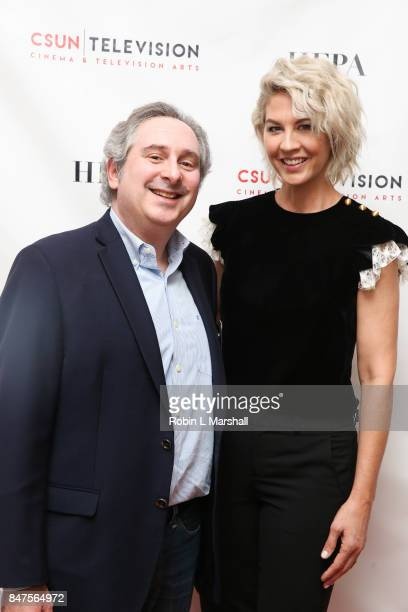 John Stahl and Actress Jenna Elfman attend Northridge's Dedication of the Hollywood Foreign Press Association Wing at California State University...