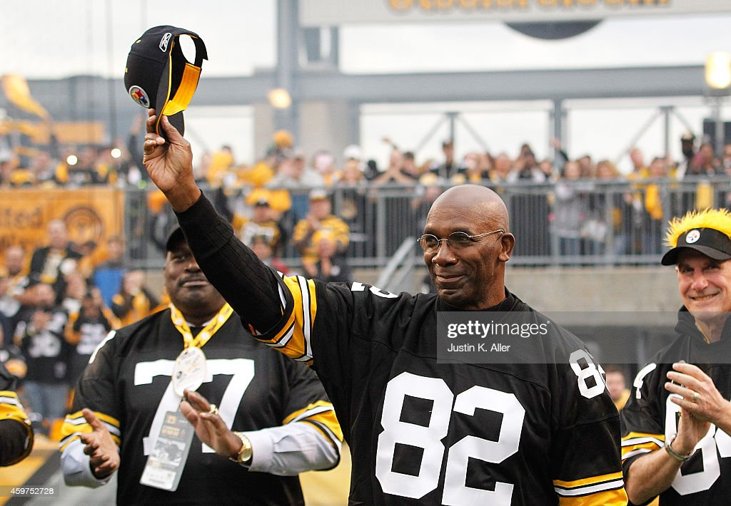 <a gi-track='captionPersonalityLinkClicked' href=/galleries/search?phrase=John+Stallworth&family=editorial&specificpeople=585421 ng-click='$event.stopPropagation()'>John Stallworth</a> a member of the 1974 Super Bowl team is honored during a halftime ceremony during the game between the New Orleans Saints and the Pittsburgh Steelers at Heinz Field on November 30, 2014 in Pittsburgh, Pennsylvania.