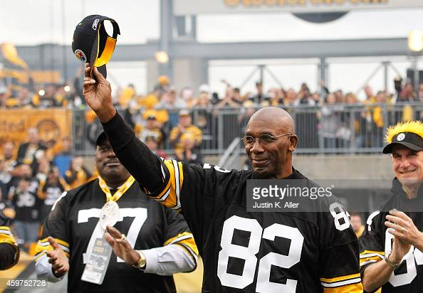 John Stallworth a member of the 1974 Super Bowl team is honored during a halftime ceremony during the game between the New Orleans Saints and the...
