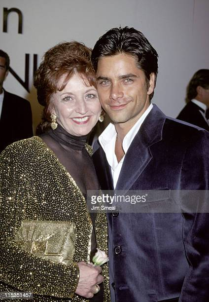 John Stamos and Loretta Stamos during Calvin Klein Presents Fall 1995 Collections at the 'Race to Erase MS' Benefit at Saks Fifth Avenue Store in...