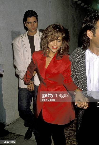 John Stamos And Paula Abdul during Milton Berle's 82nd Birthday Bash at The Improvisation in Hollywood California United States