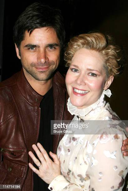 John Stamos and Rebecca Luker during John Stamos Visits 'Mary Poppins' on Broadway May 19 2007 at The New Amsterdam Theatre in New York City New York...