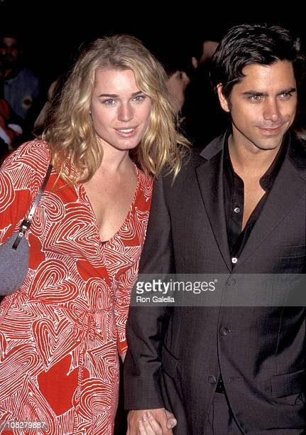 John Stamos and Rebecca Romijn during Opening of 'Annie' January 11 1999 at New Amsterdam Theater in New York City New York United States