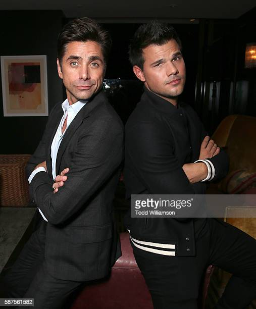 John Stamos and Taylor Lautner attend the FOX Summer TCA Press Tour on August 8 2016 in Los Angeles California