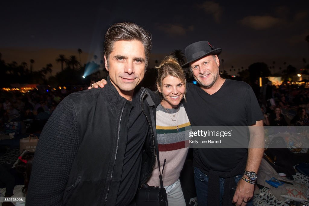 John Stamos, Lori Loughlin and Dave Coulier attend Cinespia's screening of 'Some Like It Hot' held at Hollywood Forever on August 19, 2017 in Hollywood, California.