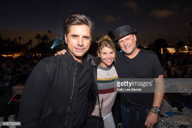 John Stamos Lori Loughlin and Dave Coulier attend Cinespia's screening of 'Some Like It Hot' held at Hollywood Forever on August 19 2017 in Hollywood...
