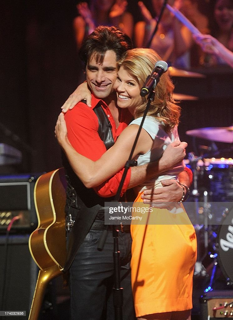 John Stamos of Jesse and the Rippers and Lori Loughlin visit 'Late Night With Jimmy Fallon' at Rockefeller Center on July 19, 2013 in New York City.