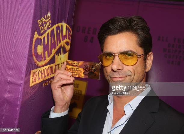 John Stamos poses at the opening night of the new musical 'Charlie and The Chocolate Factory' on Broadway at The LuntFontanne Theatre on April 23...