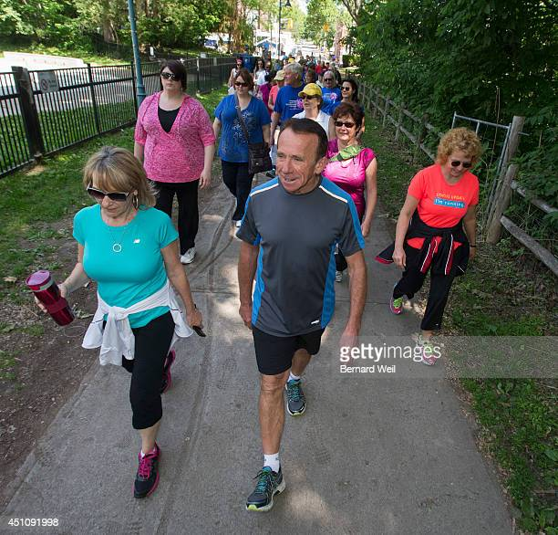 TORONTO ON JUNE 21 John Stanton founder of the Running Room spoke to a group at the Beaches location store and then went for a walk with them heading...