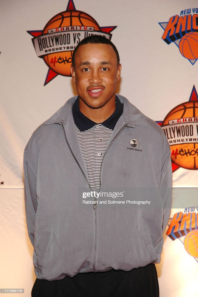 John Starks during 1st Annual 4Chosen Celebrity Basketball Game at Basketball City Basketball City in New York New York, New York New York, United States.