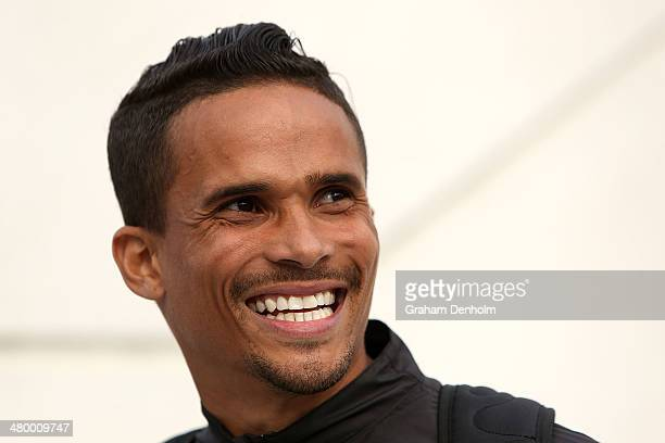 John Steffensen of Australia smiles during the IAAF Melbourne World Challenge at Olympic Park on March 22 2014 in Melbourne Australia