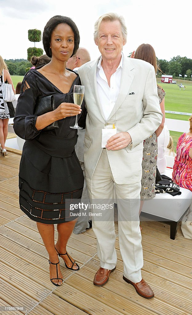 John Stephen (R) attends day 2 of the Audi Polo Challenge at Coworth Park Polo Club on August 4, 2013 in Ascot, England.