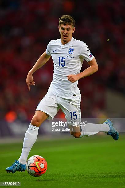 John Stones of England on the ball during the UEFA EURO 2016 Group E qualifying match between England and Switzerland at Wembley Stadium on September...