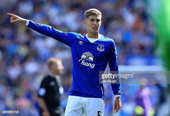 John Stones of Everton during the Barclays Premier League match between Everton and Watford at Goodison Park on August 8 2015 in Liverpool England