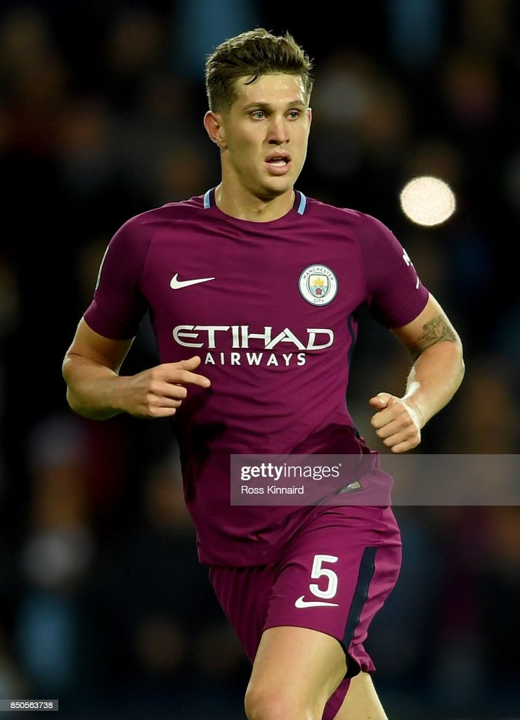 John Stones of Manchester City in action during the Carabao Cup third round match between West Bromwich Albion and Manchester City at The Hawthorns on September 20, 2017 in West Bromwich, England.